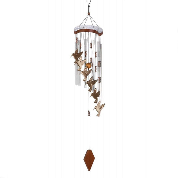 Hummingbird Cascading Windchime - The House of Awareness