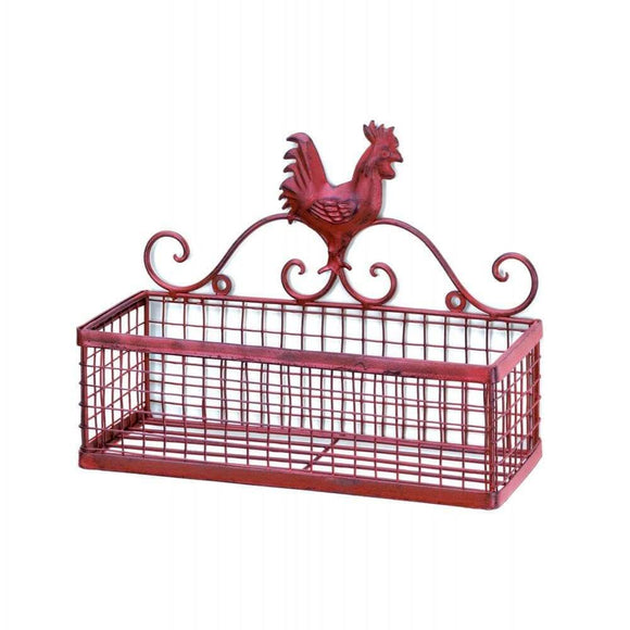 Rooster Single Wall Basket , Baskets - Home Locomotion, The House of Awareness  - 1
