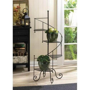 Black Helix Plant Stand - The House of Awareness