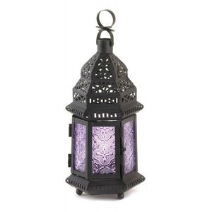 Purple Moroccan Style Lantern - The House of Awareness
