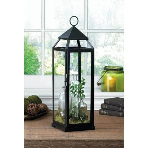 2 Extra Tall Black Contemporary Lanterns - The House of Awareness