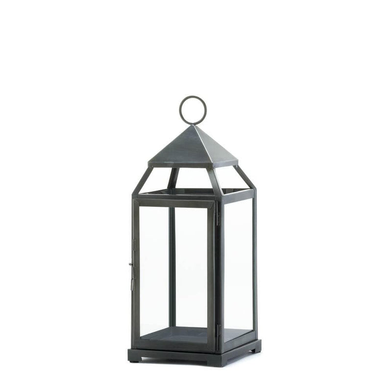 Large Rustic Silver Contemporary Lantern - The House of Awareness