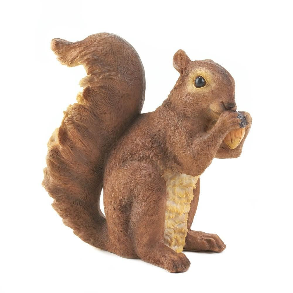Nibbling Squirrel Garden Statue - The House of Awareness