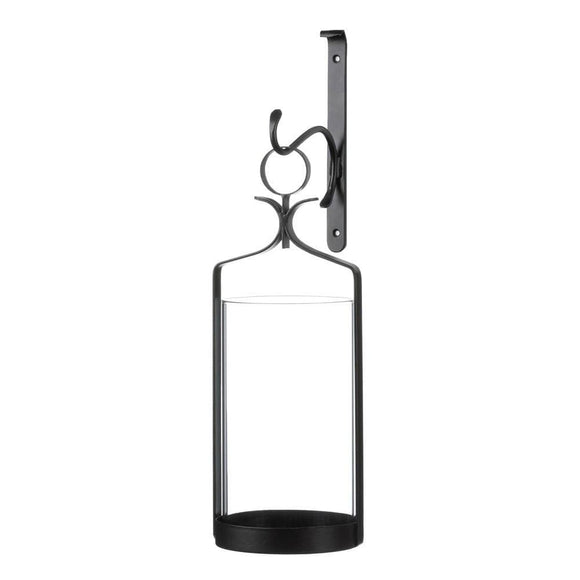 Hanging Hurricane Glass Wall Sconce , Candle Lanterns - Gallery Of Light, The House of Awareness  - 1