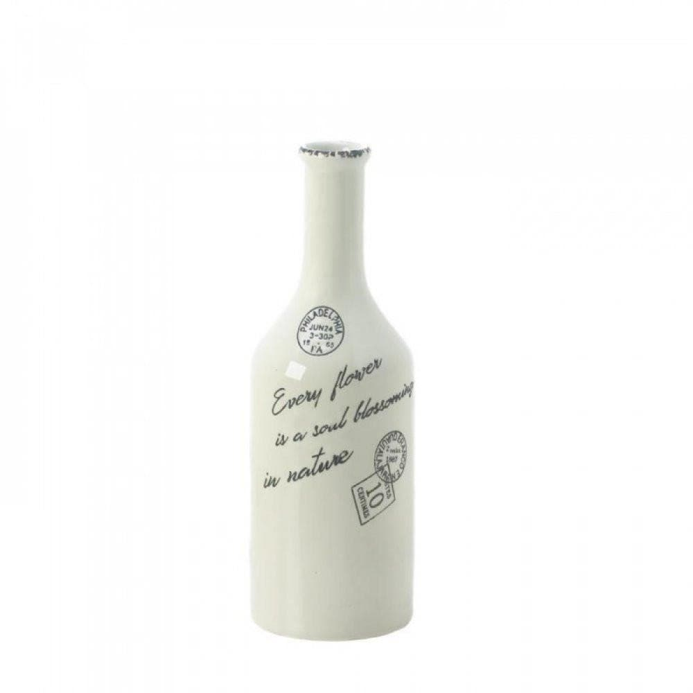 Cargo White Porcelain Stamped Vase - The House of Awareness