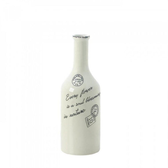 Cargo White Porcelain Stamped Vases-Small and Large