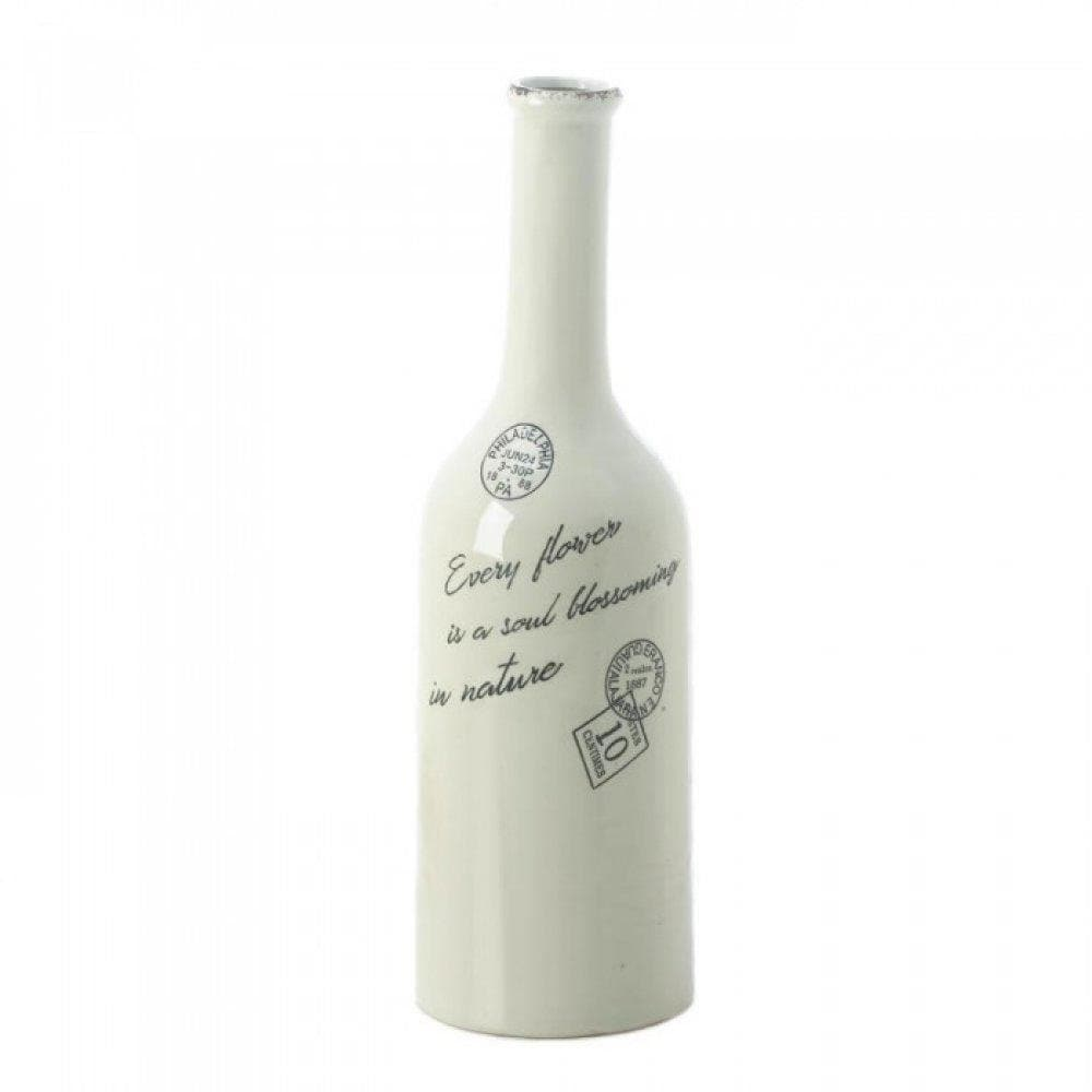Cargo White Porcelain Stamped Vases-Small and Large - The House of Awareness