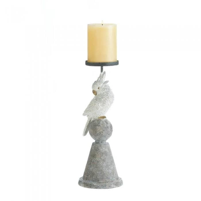 White Cockatoo Candleholder - The House of Awareness