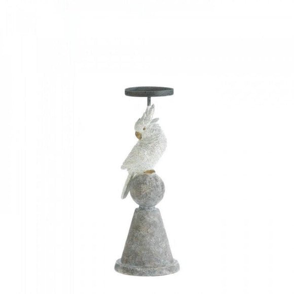 White Cockatoo Candleholder , More Candleholders - Home Locomotion, The House of Awareness  - 1