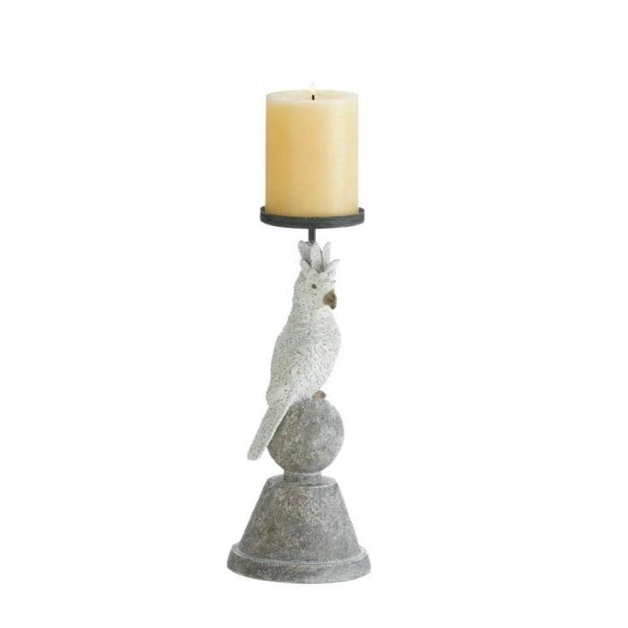 Slender Cockatoo Candleholder - The House of Awareness