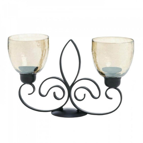 Fleur De Lis Dual Candleholder , More Candleholders - Gallery Of Light, The House of Awareness