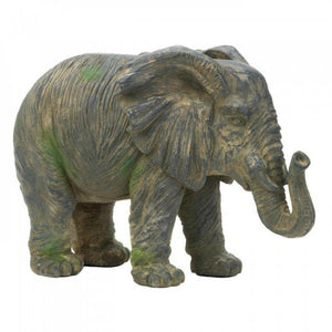 Weathered Elephant Statue - The House of Awareness
