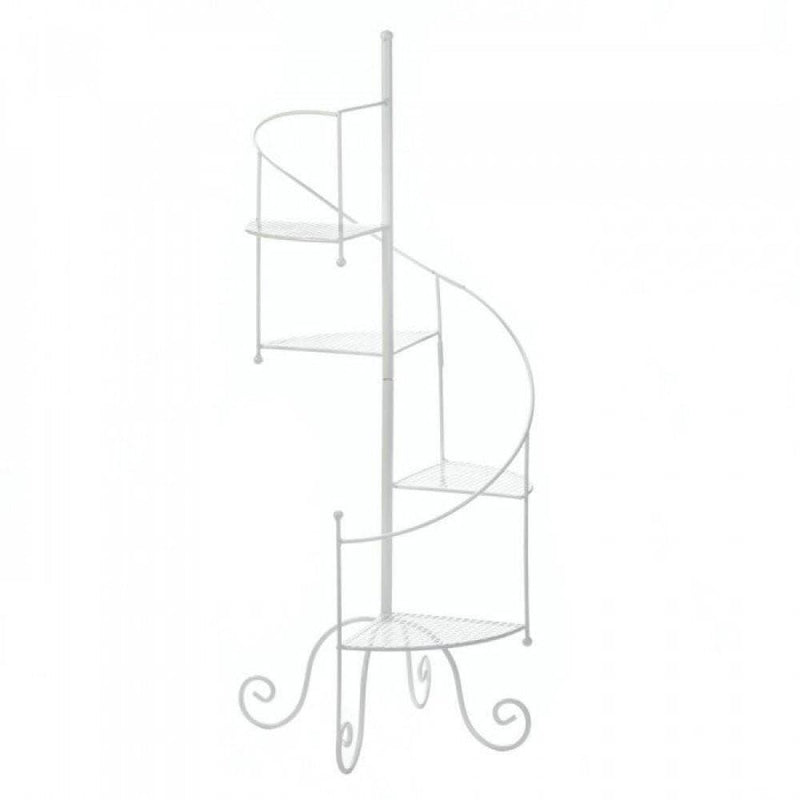 White Spiral Showcase Plant Stand - The House of Awareness
