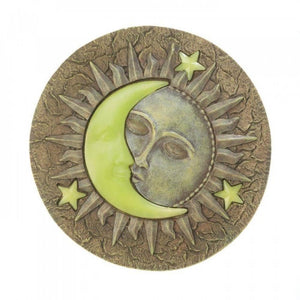 Sun And Moon Glowing Stepping Stone , Garden Decor - Summerfield Terrace, The House of Awareness  - 1