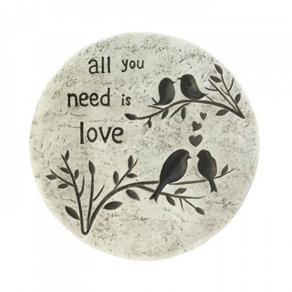 Set of 2 All You Need Is Love Stepping Stones - The House of Awareness