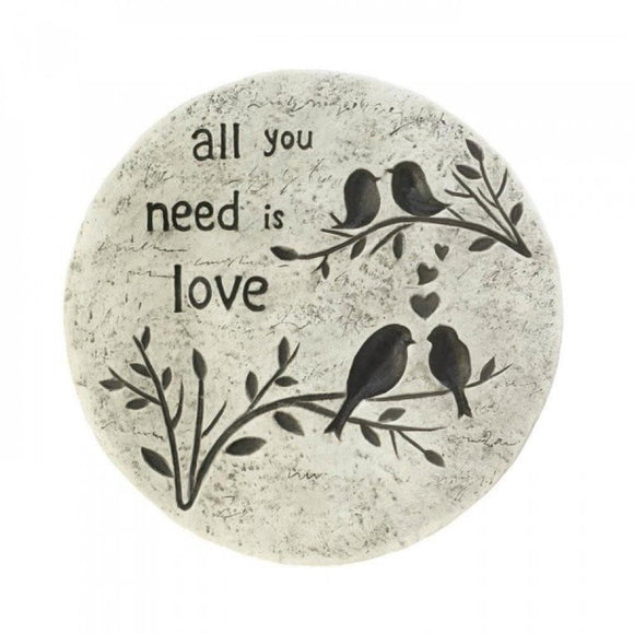 All You Need Is Love Stepping Stone , Garden Decor - Summerfield Terrace, The House of Awareness