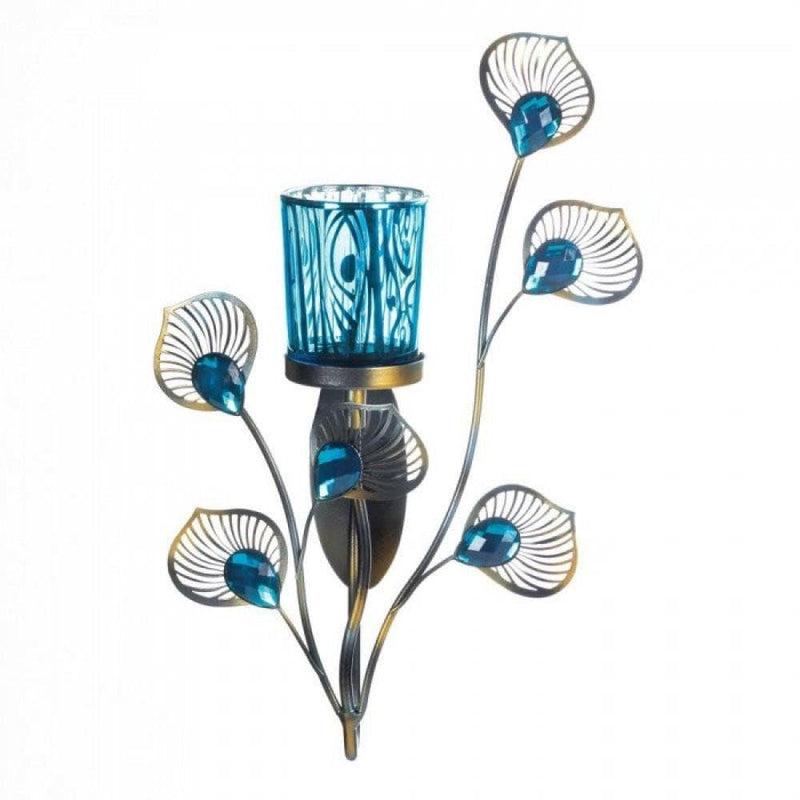 Peacock Inspired Single Sconce - The House of Awareness