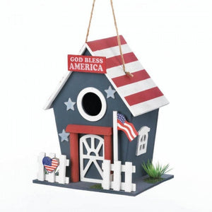 Small Patriotic Birdhouse - The House of Awareness