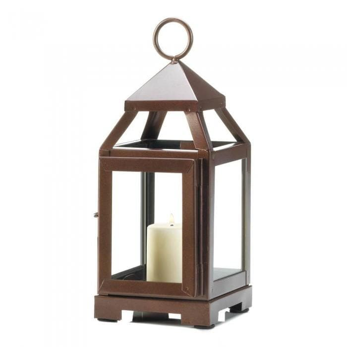 Copper Mini Contemporary Lantern - The House of Awareness