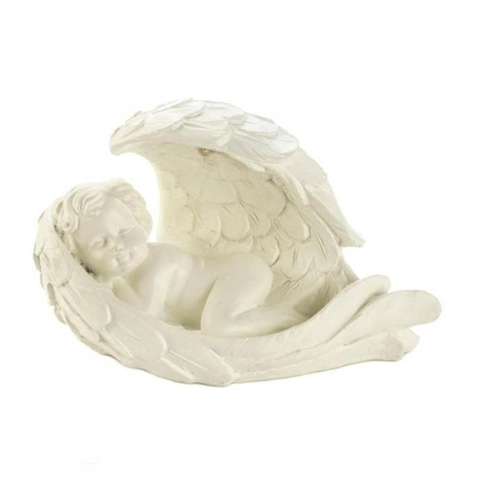 Peaceful Cherub Figurine With Solar Light - The House of Awareness