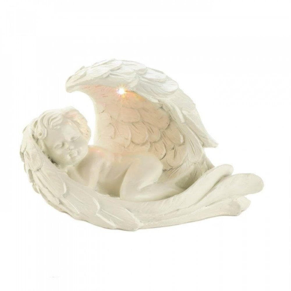 Set of 2 Peaceful Cherub Figurines With Solar Light - The House of Awareness