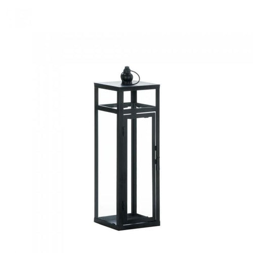 Black Dramatic Geometry Lantern - The House of Awareness