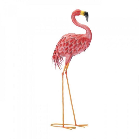 Set of 2 Bright Standing Flamingos