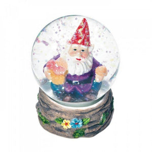 Set of 2 Happy Garden Gnome Mini Snow Globes - The House of Awareness