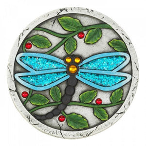 Set of 2 Blue Dragonfly Garden Stepping Stones - The House of Awareness
