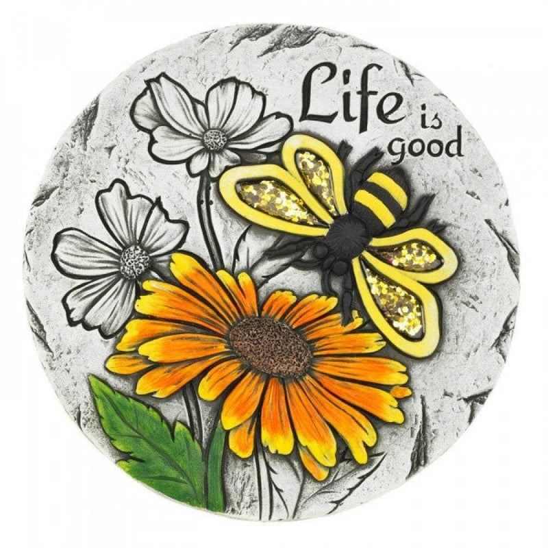 Life Is Good Honey Bee Garden Stone - The House of Awareness
