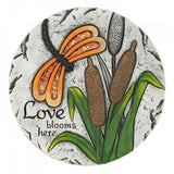 Set of 2 Love Blooms Here Dragon Fly Stepping Stones