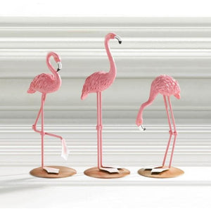 Tabletop Flamingo Decor Trio - The House of Awareness