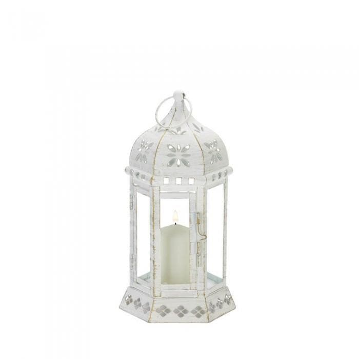 Distressed Floral Lantern - The House of Awareness