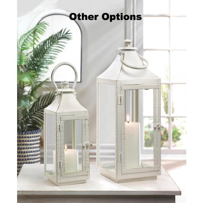 Set of 2 Classic White Lanterns - The House of Awareness