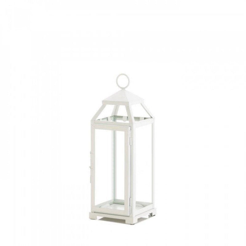 Medium Country White Open Top Lantern - The House of Awareness