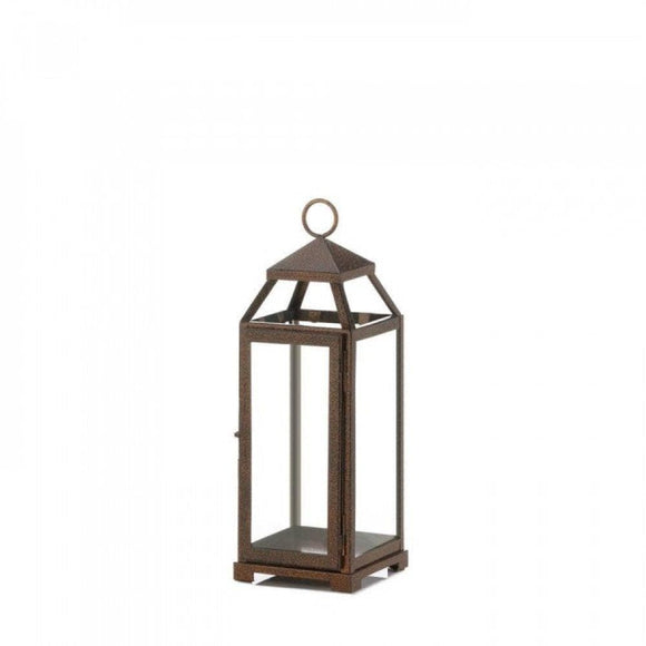 Set of 2 Medium Copper Candle Lanterns