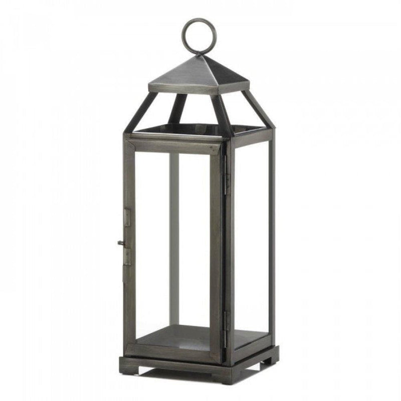 Set of 2 Medium Brushed Pewter Lanterns - The House of Awareness