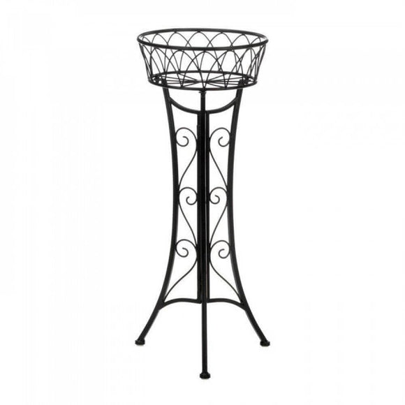 Black Scrollwork Plant Stand