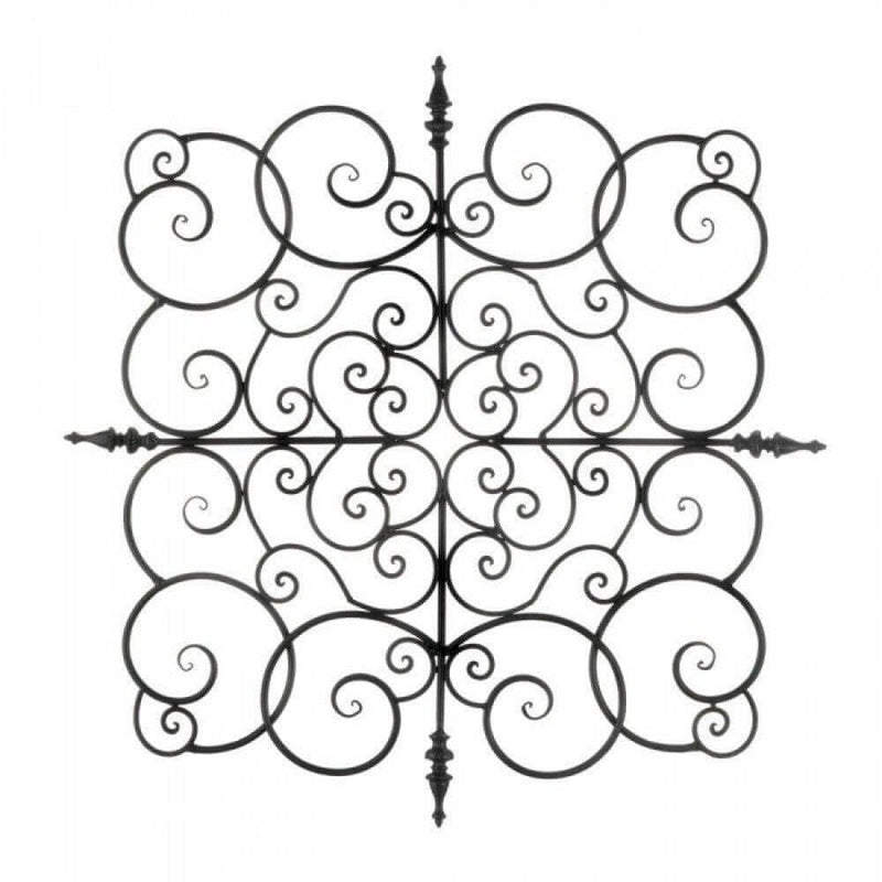 Flowing Scrollwork Wall Plaque - The House of Awareness