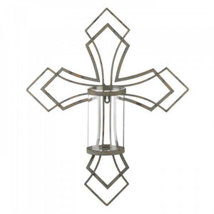 Contemporary Cross Candle Wall Sconce - The House of Awareness