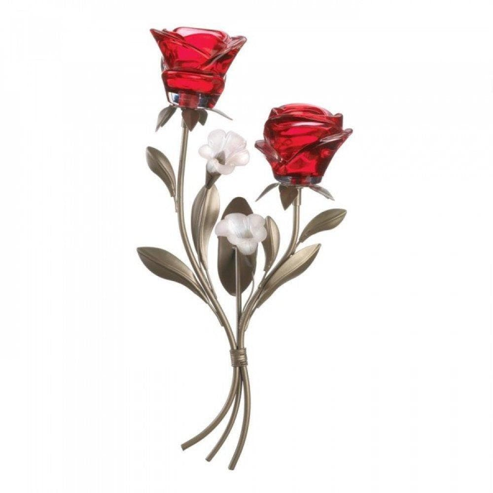 Set of 2 Romantic Roses Wall Sconces - The House of Awareness
