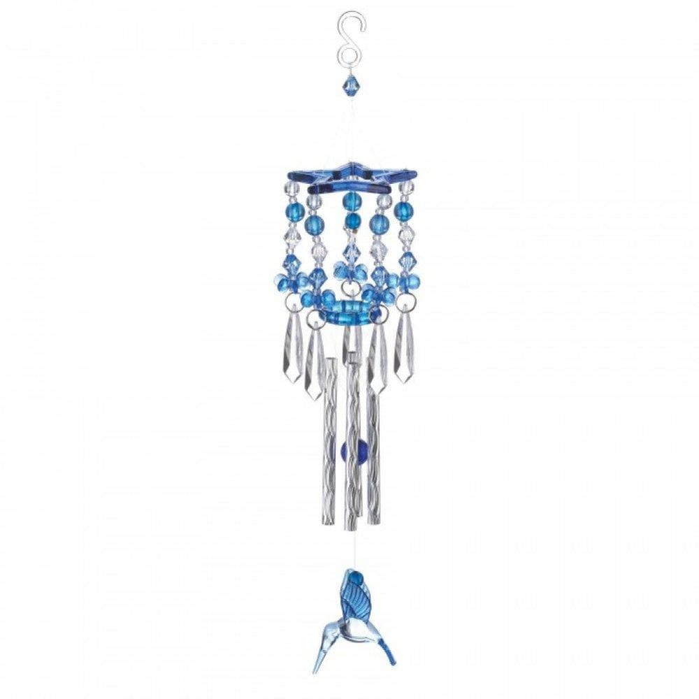 Blue Hummingbird Wind Chimes - The House of Awareness