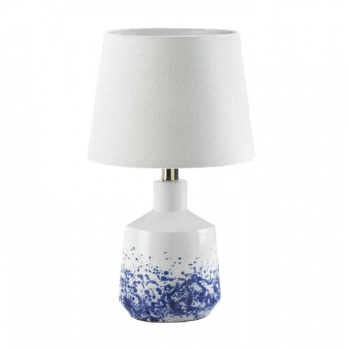 Set of 2 White And Blue Splatter Table Lamps - The House of Awareness
