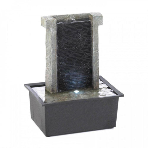 Stone Wall Tabletop Fountain - The House of Awareness