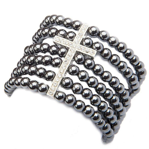 Hematite Angelica Cuff Bracelet - The House of Awareness
