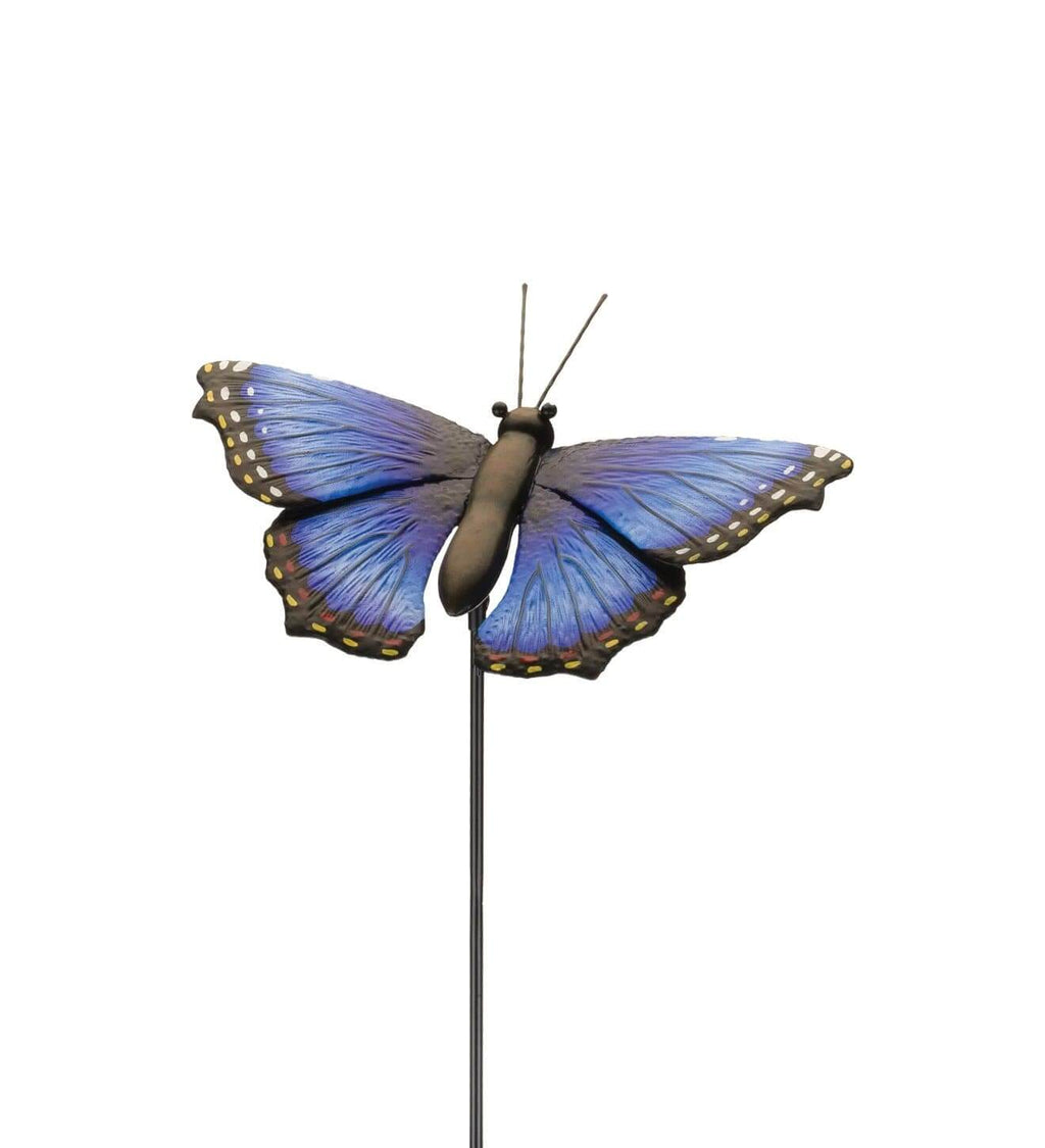 Garden Blue Butterfly with Stake