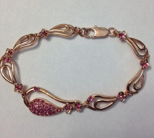 Rose Gold Plated Swarovski Elements Bracelet - The House of Awareness