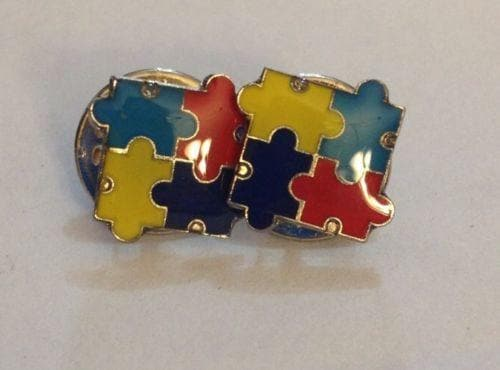2 Autism Awareness Puzzle Tack Pins - The House of Awareness