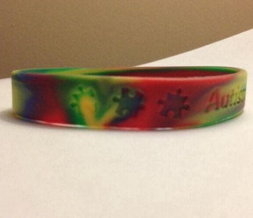 Autism Awareness Puzzle Pieces  ADULT Bracelet with words Autism Awareness - The House of Awareness