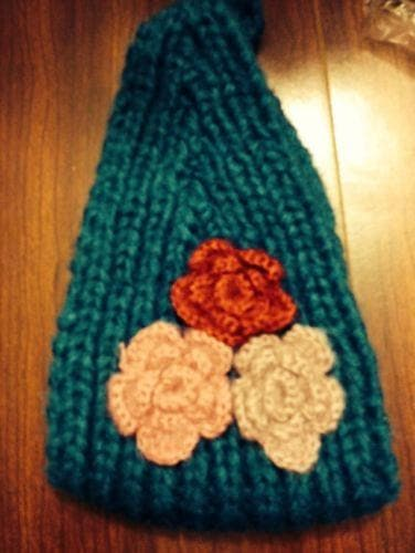 Fuzzy three flower headwrap - The House of Awareness